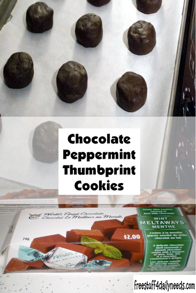 Chocolate Peppermint Thumbprint Cookies Free Stuff 4 Daily Needs