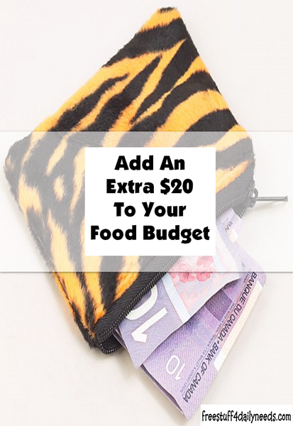 Add Extra 20 To Your Food Budget