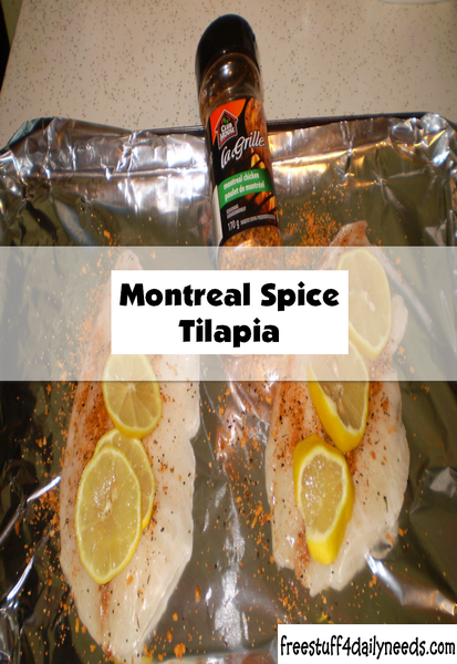 Baked Montreal Spice Tilapia