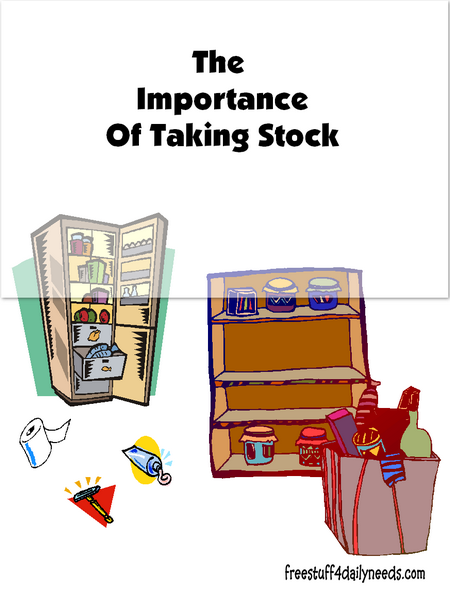 The Importance of Taking Stock