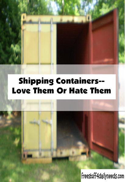 Shipping Containers-Love Them Or Hate Them