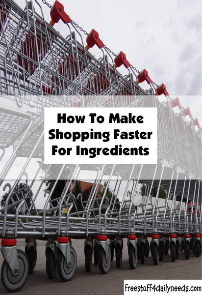 How To Make Shopping Faster For Ingredients