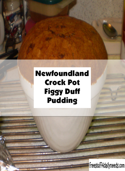 Newfoundland Crock Pot Figgy Duff Pudding
