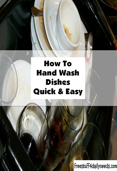 How To Hand Wash Dishes Quick And Easy