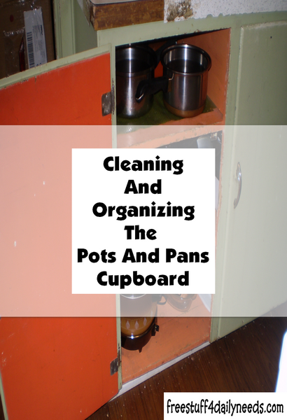 Cleaning And Organizing The Pots And Pans Cupboard