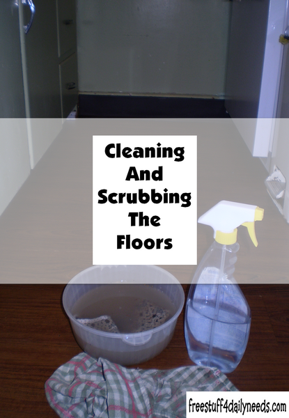 Cleaning And Scrubbing The Floors