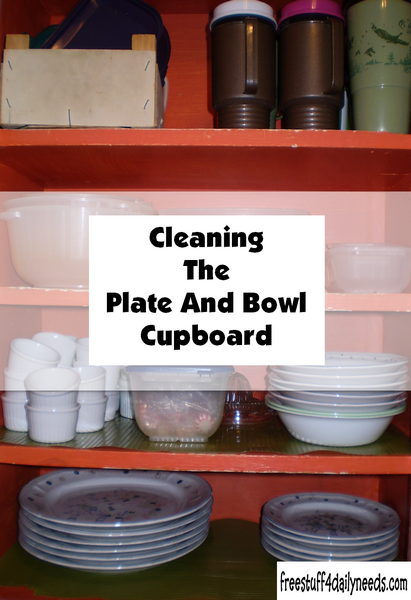 Cleaning The Plate And Bowl Cupboard