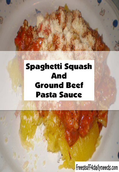 Spaghetti Squash And Ground Beef Pasta Sauce