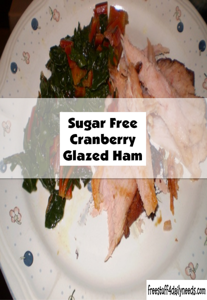 Sugar Free Cranberry Glazed Ham