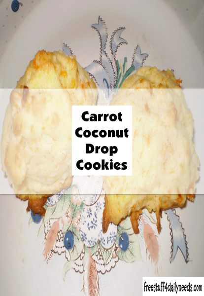Carrot Coconut Drop Cookies