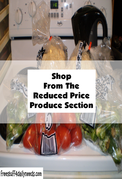 Shop From The Reduced Price Produce Section