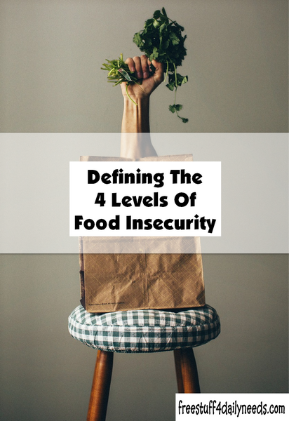 Defining The 4 Levels Of Food Insecurity