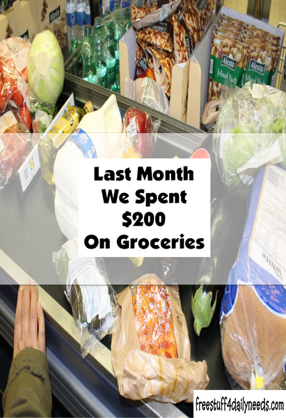 Last Month We Spent 200 On Groceries