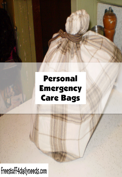 Personal Emergency Care Bags