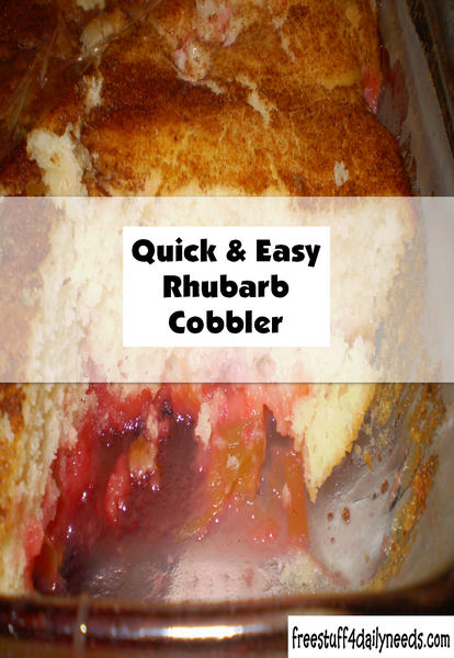 Quick And Easy Rhubarb Cobbler