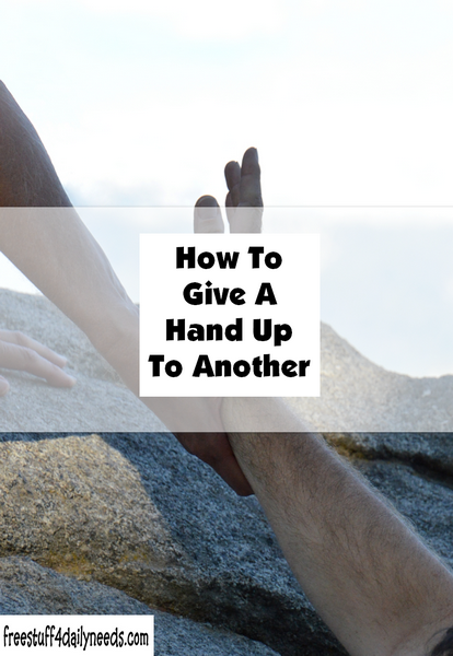 How To Give A Hand Up To Another
