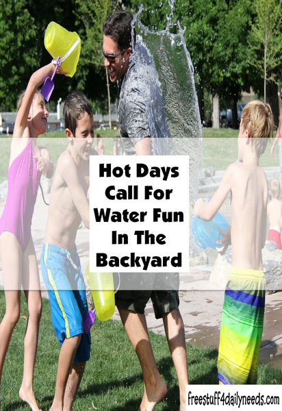 Hot Days Call For Water Fun In The Backyard