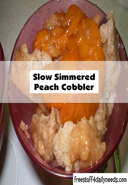 Slow Simmered Peach Cobbler