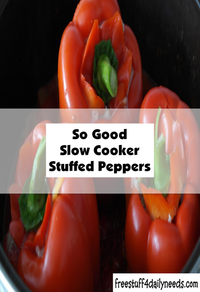 So Good Slow Cooker Stuffed Peppers