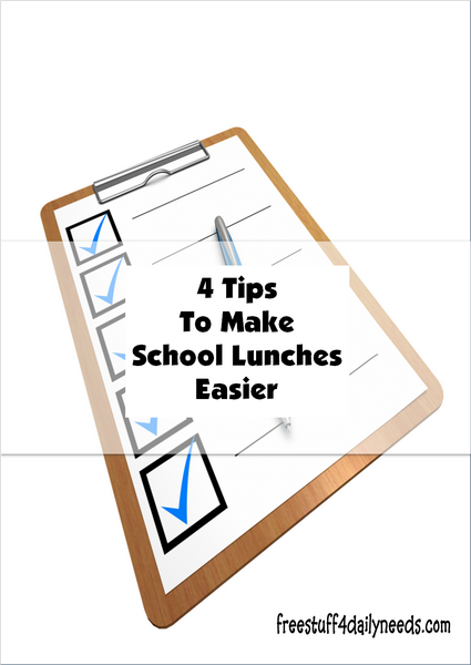 4 Tips To Make School Lunches Easier