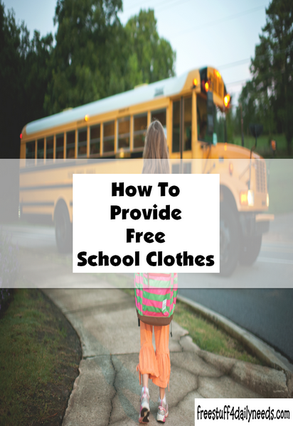 How To Provide Free School Clothes