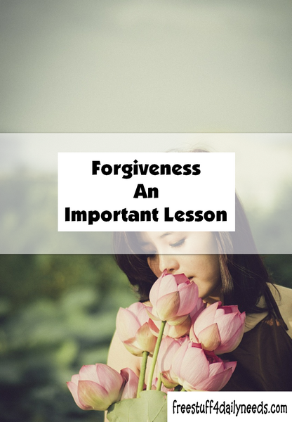 Forgiveness An Important Lesson