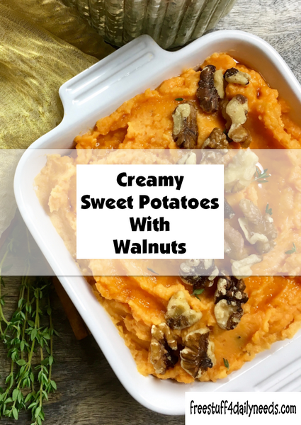 Creamy Sweet Potatoes With Walnuts
