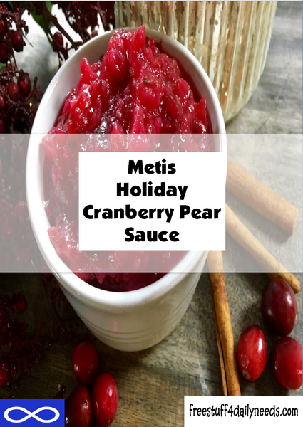 Metis Holiday Cranberry Pear Sauce