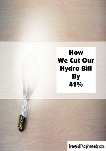 How We Cut Our Hydro Bill By 41 Percent